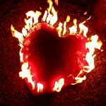 Enamelled Steel Fire Heart