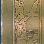 Acid-Etched Copper Plaque(detail of a fireplace surround insert)