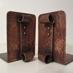 Hammered Copper Bookends