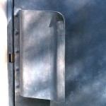 Patinated Steel door Pull