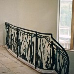 Iron & wrought copper staircase railing