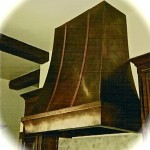 Patinated Copper Range Hood