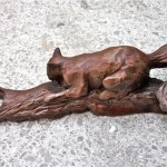 Cast bronze Squirrel Door Handle