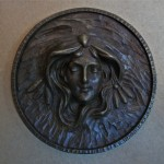 cast bronze medallion