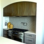 Patinated Zinc Kitchen Hood